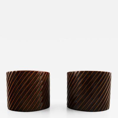 Stig Lindberg Stig Lindberg Gustavsberg Domino pair of vases in ceramic