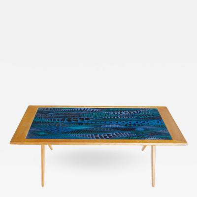 Stig Lindberg Stig Lindberg and David Rosen for Nordiska Kompaniet Enamel Coffee Table