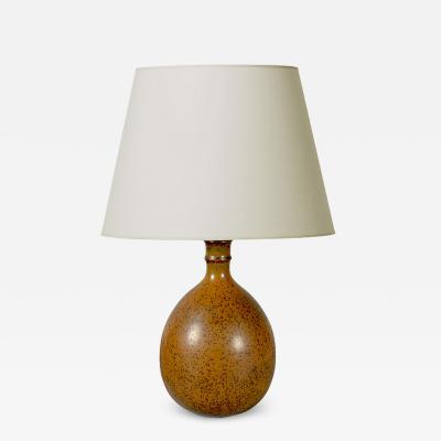 Stig Lindberg Table lamp in speckled glaze by Stig Lindberg