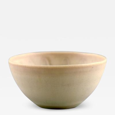 Stig Lindberg Unique miniature bowl in glazed ceramics Beautiful eggshell glaze