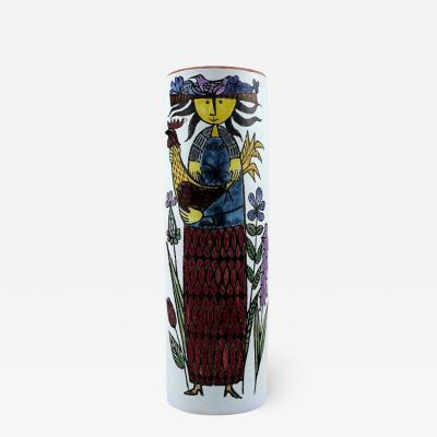 Stig Lindberg Vase decorated with a women Faience