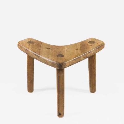 Stig Sandqvist Swedish Studio Crafted Pine Stool or Corner Table by Stig Sandqvist 1940s