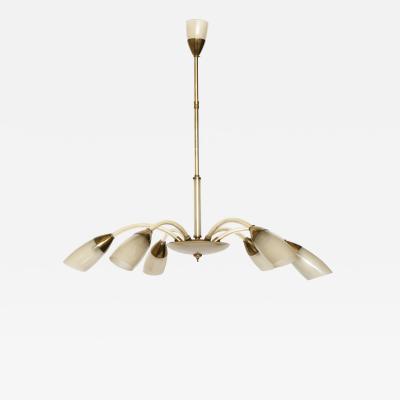Stilnovo style italian chandelier
