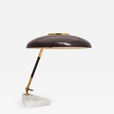 Stilux Milano 1950S ITALIAN DESIGN BROWN COLOUR SHADE TABLE LAMP BY STILUX MILANO