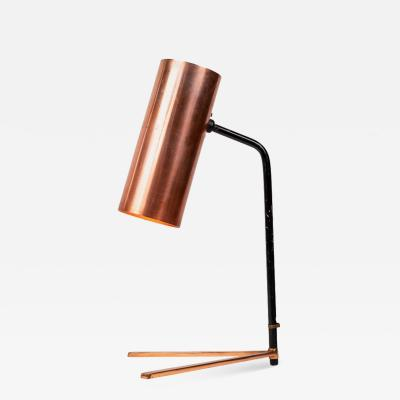 Stilux Milano 1950s Stilux Copper and Metal Table Lamp