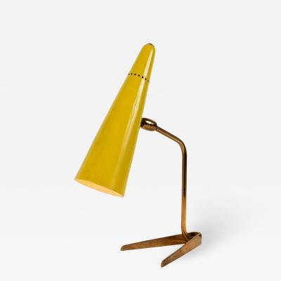 Stilux Milano 1950s Stilux Milano Yellow Conical Table Lamp
