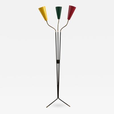 Stilux Milano 1950s Three Cones Floor Lamp