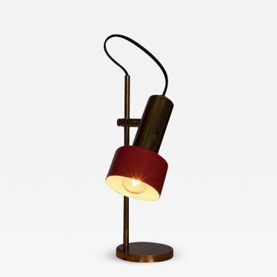 Stilux Milano 1960s Stilux Milano Adjustable Brass Table Lamp
