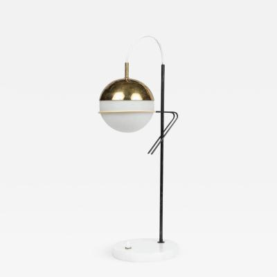 Stilux Milano 1960s Stilux Milano Glass and Marble Table Lamp