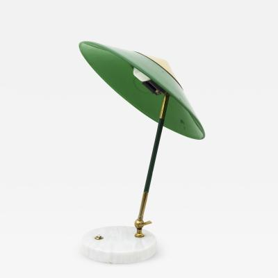 Stilux Milano Articulating Table Lamp in Marble Brass and Perspex