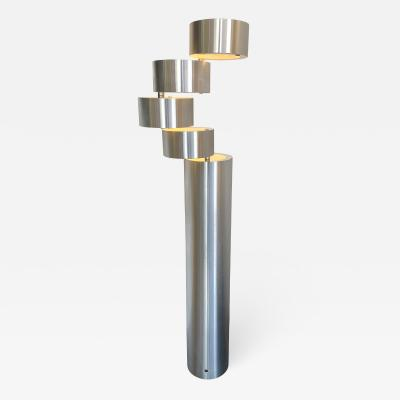 Stilux Milano Floor Lamp Brushed Stainless Steel by Stilux Milano Italy 1970s