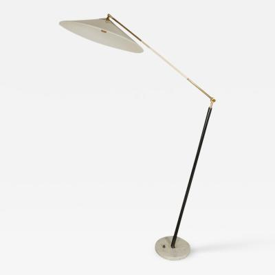 Stilux Milano Floor Lamp with White Plastic Shade