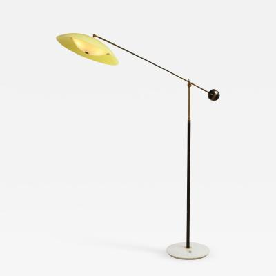 Stilux Milano Floor lamp with yellow shade and marble base