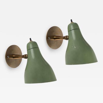 Stilux Milano Pair of 1960s Stilux Articulating Sconces