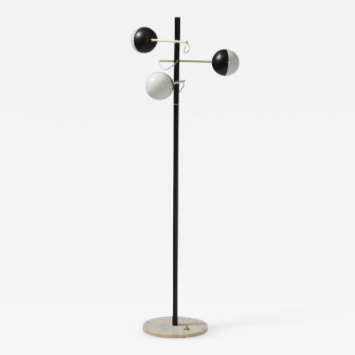 Stilux Milano Stilux Milano early 1960s floor lamp with painted metal stem