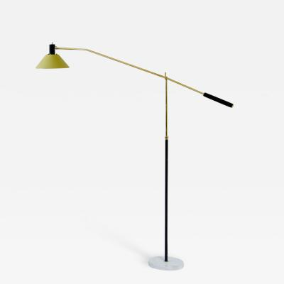 Stilux Milano Stilux adjustable floor lamp with painted metal shade and marble base
