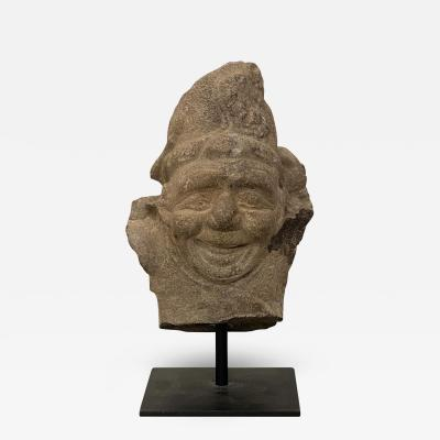 Stone Fragment of a Dwarf China Circa 13th Century
