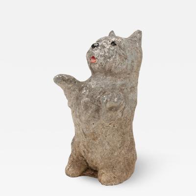 Stone Scottie Dog Standing