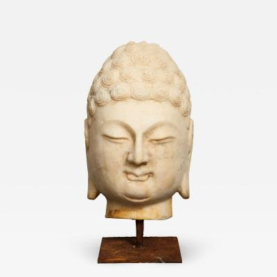 Stone Sculpture of Buddha Head