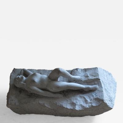 Stone Sculpture of Recling Nude