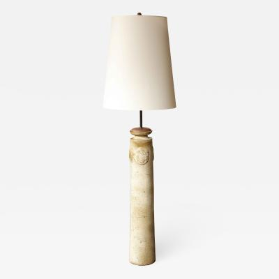 Stoneware Vase Floor Lamp