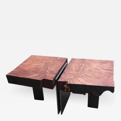 Stonis Collective Book Matched Redwood Occasional Table 021