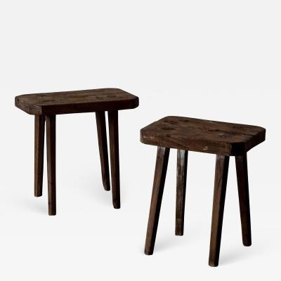 Stools Benches Rustic Wood Swedish 19th Century Sweden
