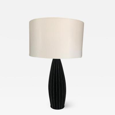 Strata Slate Vertical Ridged Table Lamp