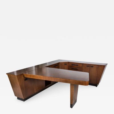 Streamline Wraparound Desk and Console