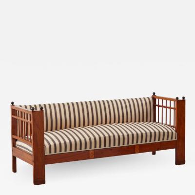 Striped Biedermeier settee Sweden c1830