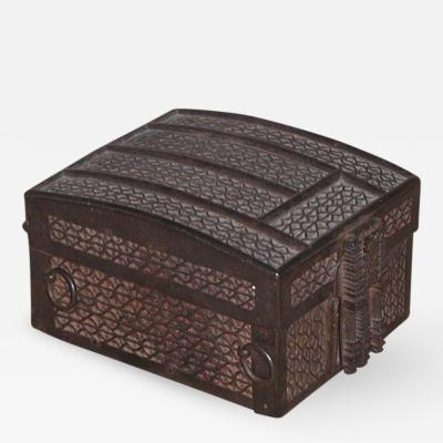 Strong Box missal casket Iron over Iron on an Oak Core