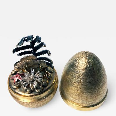 Stuart Devlin Stuart Devlin Silver Gilt Surprise Egg London 1978