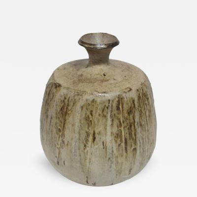 Studio Pottery Vase Ceramic Earth Tones Cressey Style Signed USA 1960s