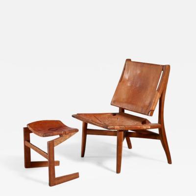 Studio craft lounge chair with ottoman USA