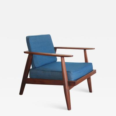 Studio producted mid century walnut lounge chair