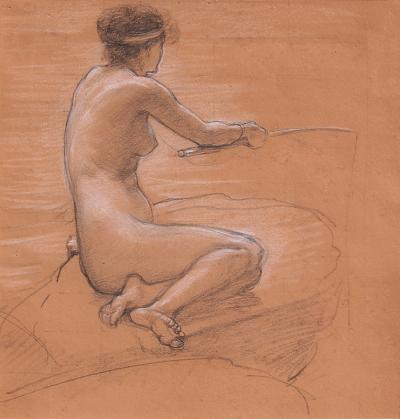 Study for A Nymph of the Stream