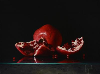 Study of Pomegranate Contemporary Still Life Giclee by Campanile