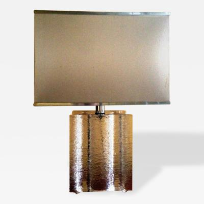 Stunning 1970s Large French Lamp in Perspex