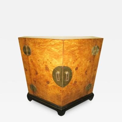 Stunning Chinoisiere Olivewood Octagon End Table Mid Century Modern