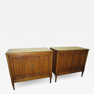 Stunning Pair of Mosaic Top Mid Century Modern Nightstands
