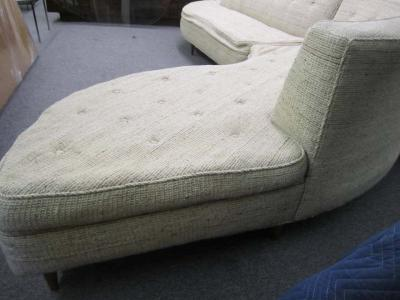 Stunning Serpentine Two Piece Sectional Sofa Mid Century Modern