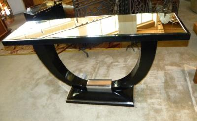 Stunning U Shaped Base Art Deco Modernist Console