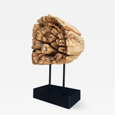 Stunning Wood Sculpture on a Metal Stand