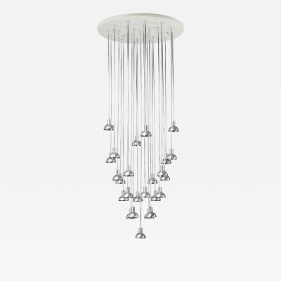 Style of Verner Panton Flush mount Chandelier