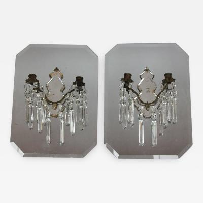 Stylish Antique French Mirrored Wall Sconces