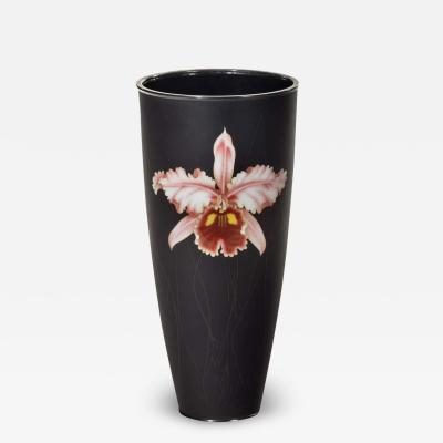 Stylish Showa Period Cloisonn Enamel Beaker Vase by Ando