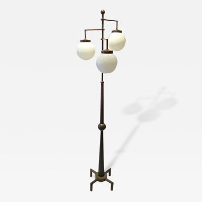 Stylized Bronze Mid Century Floor Lamp