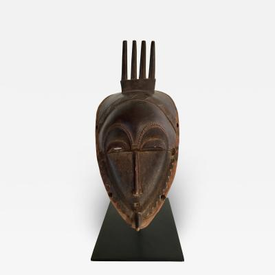 Stylized Carved African Mask 20th Century