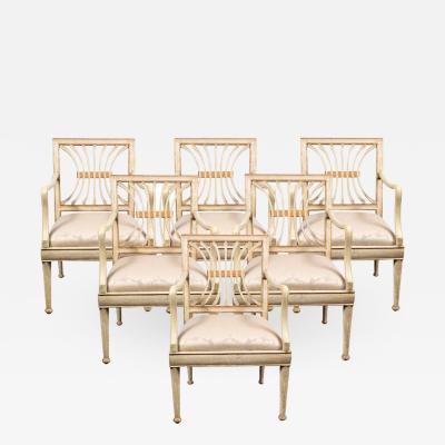 Suite of Antique Painted Chairs