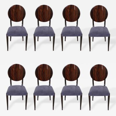 Suite of Eight French Art Deco Dining Chairs circa 1930s